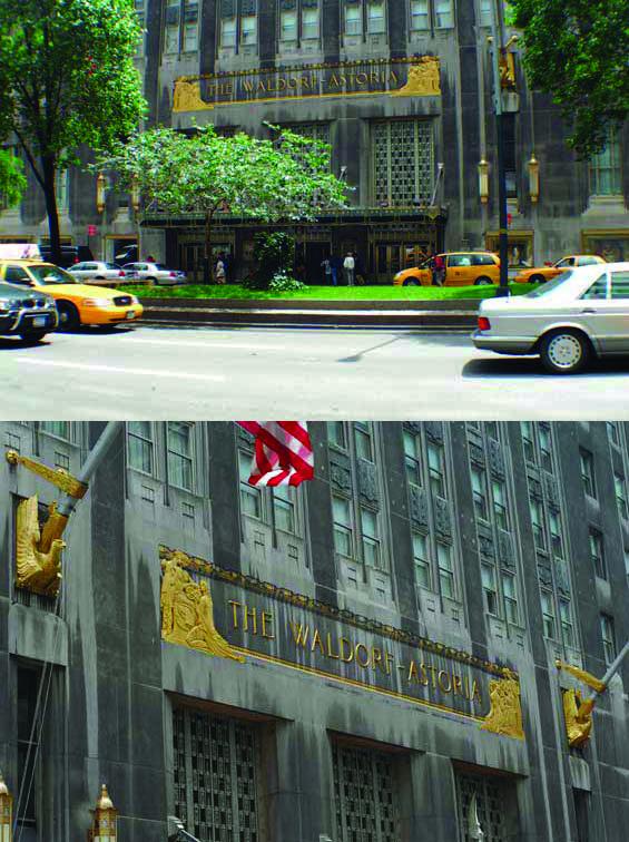 Main entrance of Waldorf Astoria New York / Главный вход в отель Waldorf Astoria New York