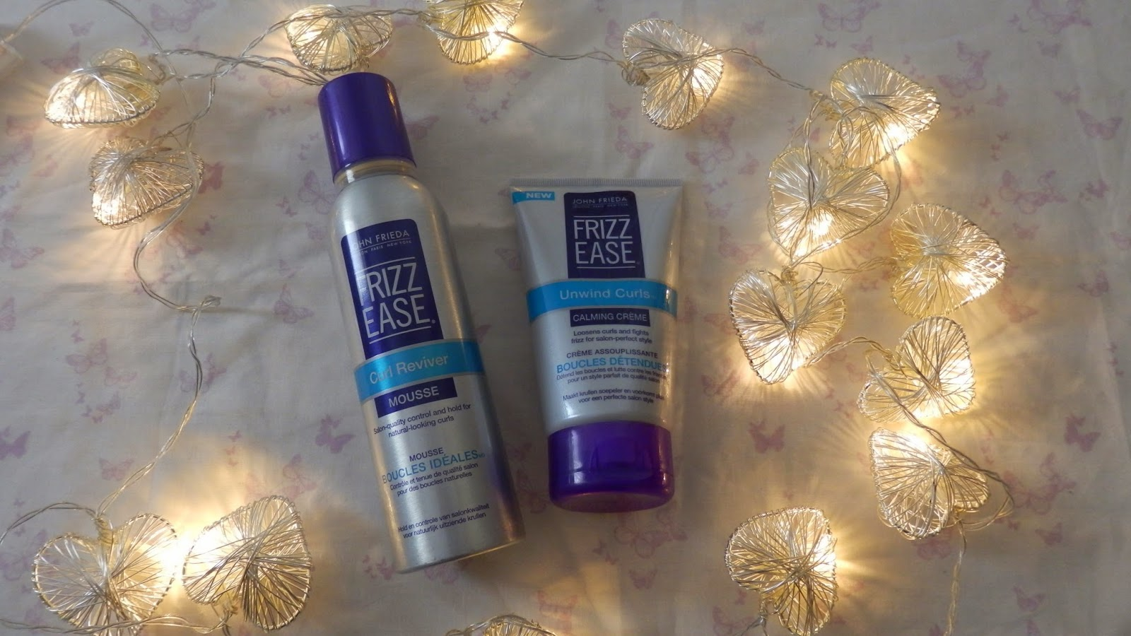 John Frieda Frizz Ease Range Curl Reviver Mousse and Unwind Curls Calming Creme