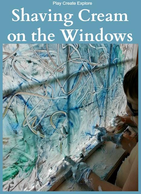 Shaving Cream on the Windows: Sensory Activity