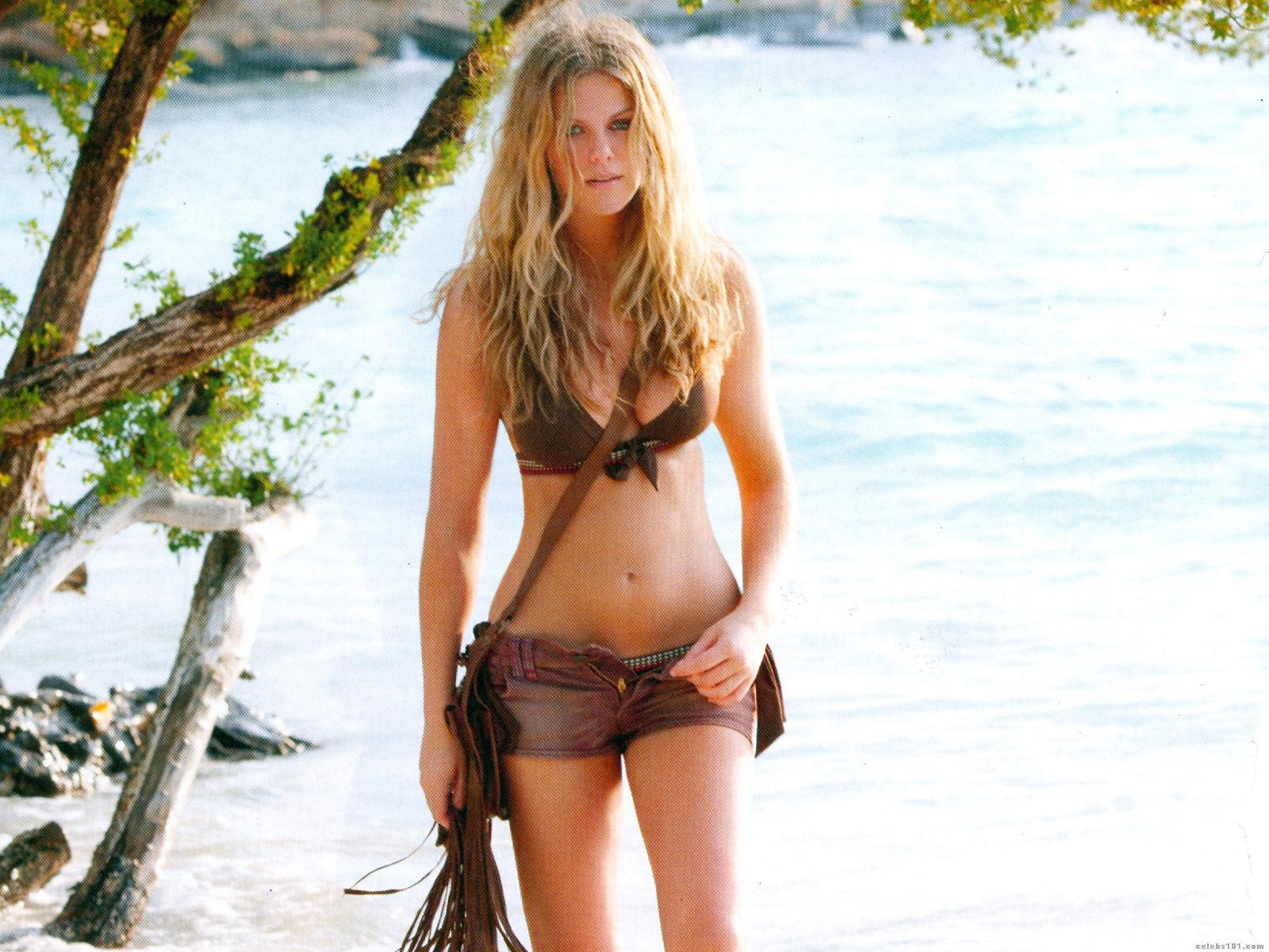 Brooklyn decker gelber Bikini