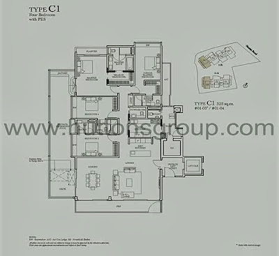 Sage @ Nassim Type C1 four Bedrooms with PES