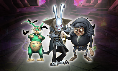 Wizard101 Halloween 2013 - Frankenbunny, Nosfer Rabit, Dworgyn