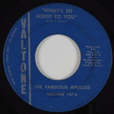 The Fabulous Apollos - What's So Good To You