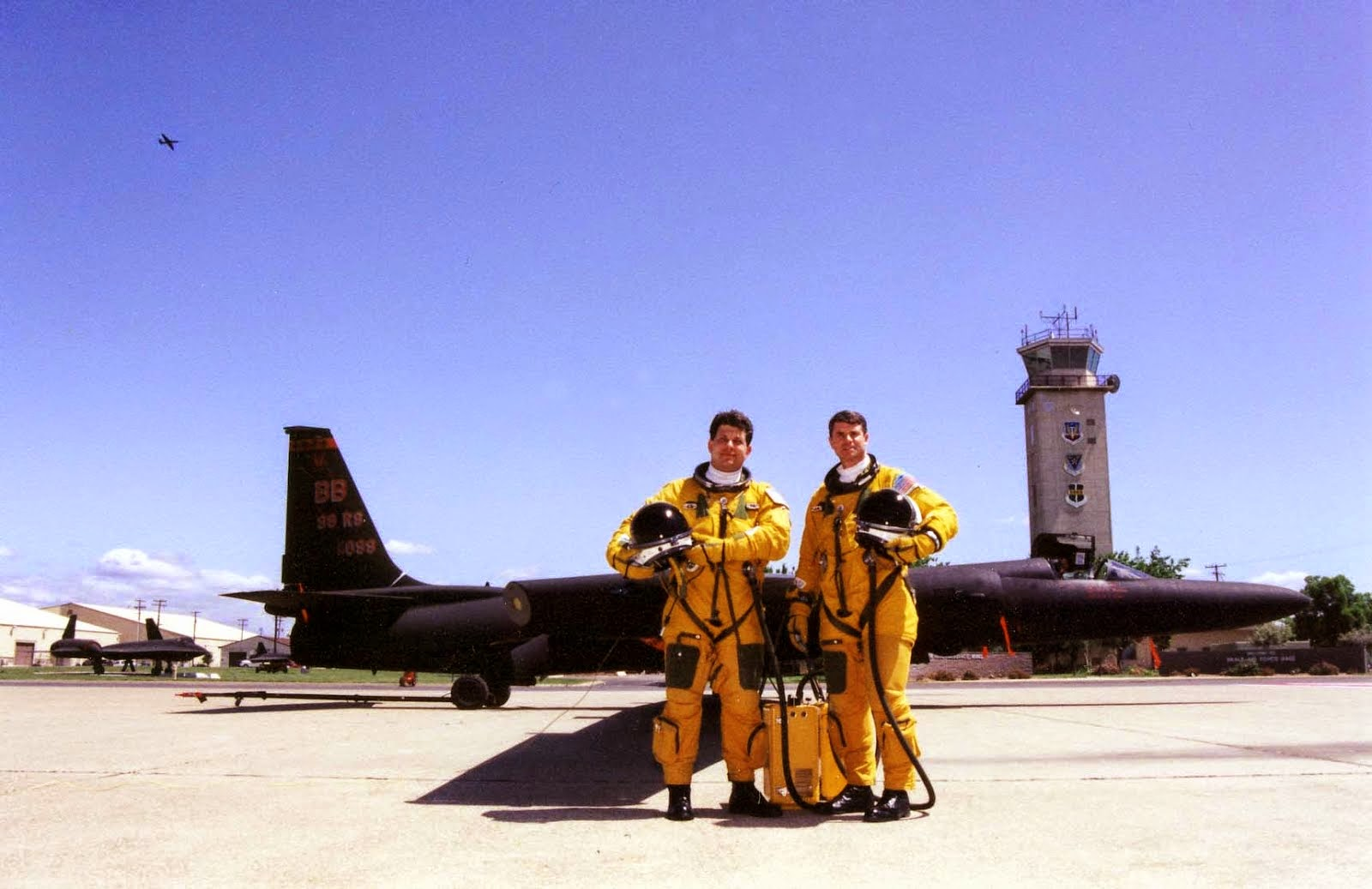 LtCol Bryan Anderson takes Gary Powers Jr. for a ride in the U-2 dragonlady