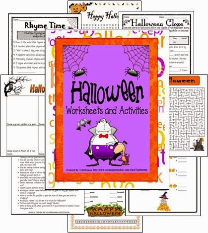 http://www.teacherspayteachers.com/Product/Halloween-Worksheets-and-Activities-101242