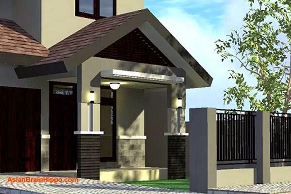 warna cat teras rumah minimalis images