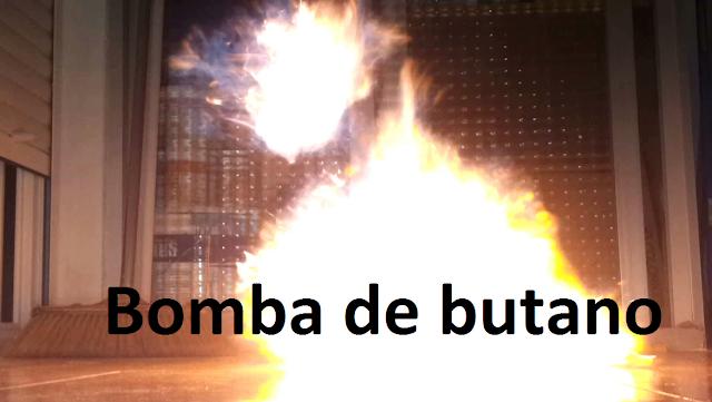 La combustión del butano experimentos caseros bomba casera