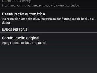 Restaurando a configuração original do Android