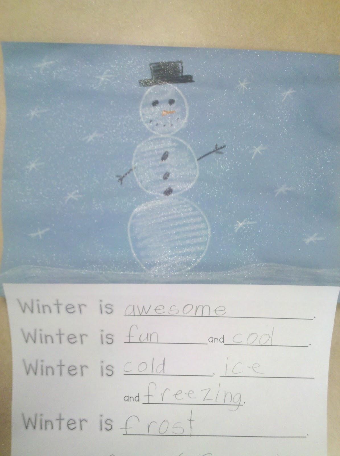 Winter Writing - Fun in First