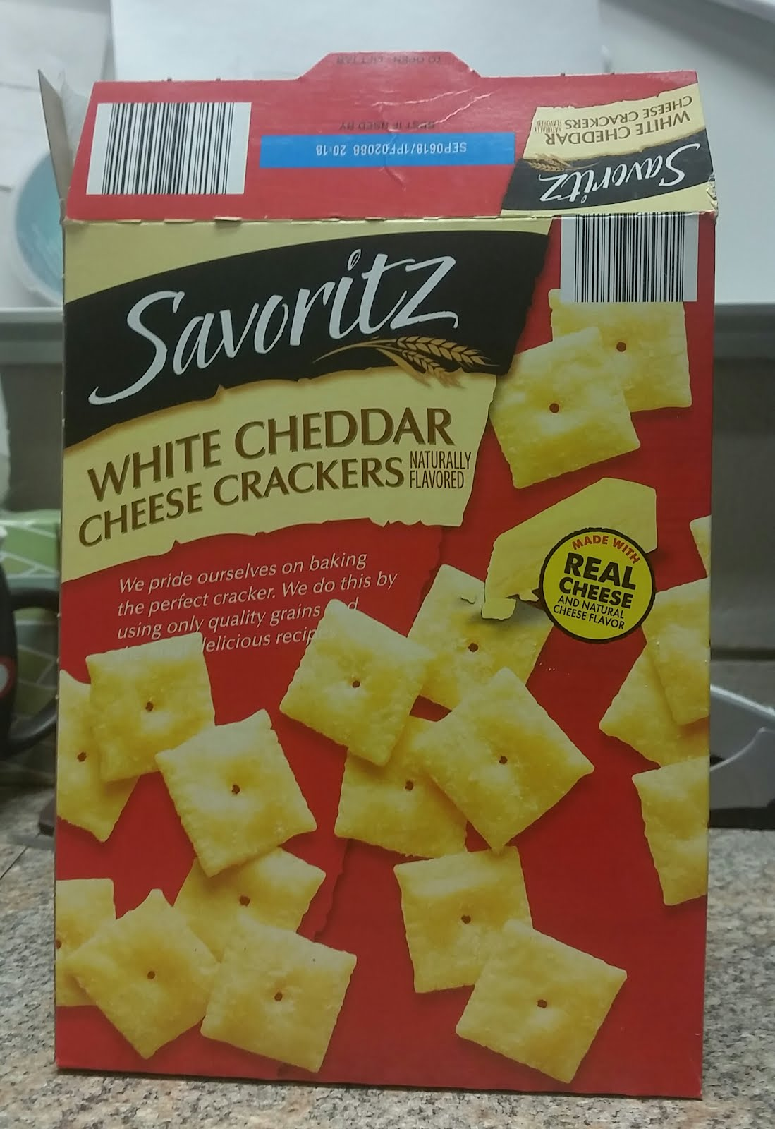 Dayhoff Soundtrack Box Of White Cheddar Cheese Crackers