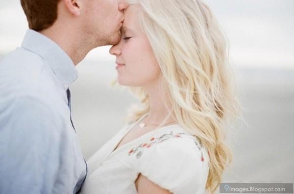 Blonde Couple Boy Kiss On Girl Head Cute Lovejpg