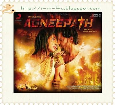 Bollywood-Movie-Agneepath-2012 directed by Karan Johar and staring by Hrithik Roshan, Priyanka Chopra, Sanjay Dutt Poster