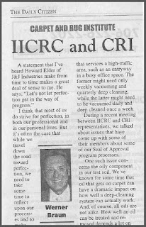CRI, IICRC, and the Future of Seal of Approval Carpet Cleaning