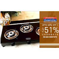 Buy Padmini Gas Cooktops Extra 41% Cashback from Rs. 1230 :Buytoearn