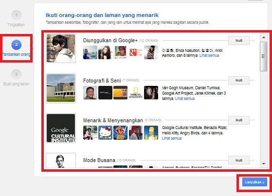 Tambahkan orang ke dalam Google Plus