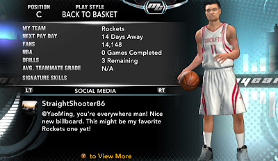 NBA 2K13 Yao Ming MyCareer Player