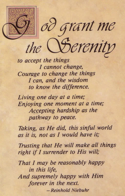 Influential image with regard to serenity prayer printable