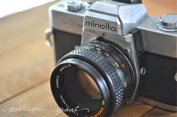 Vintage Minolta Camera | www.andersonandgrant.com