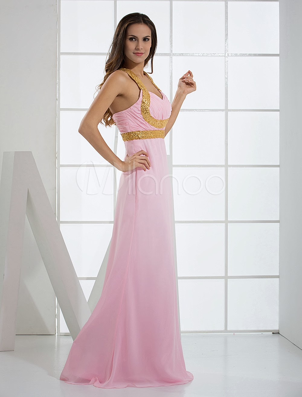 China Wholesale Dresses - Pink Sweet Prom Dress