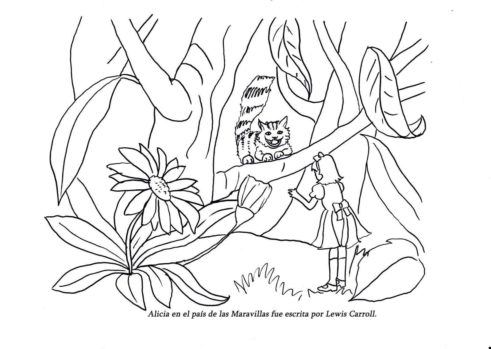 Alicia En El Pais De Las Maravillas Dibujos Para Colorear. Beautiful ...