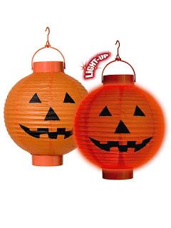 halloween pynt lamper