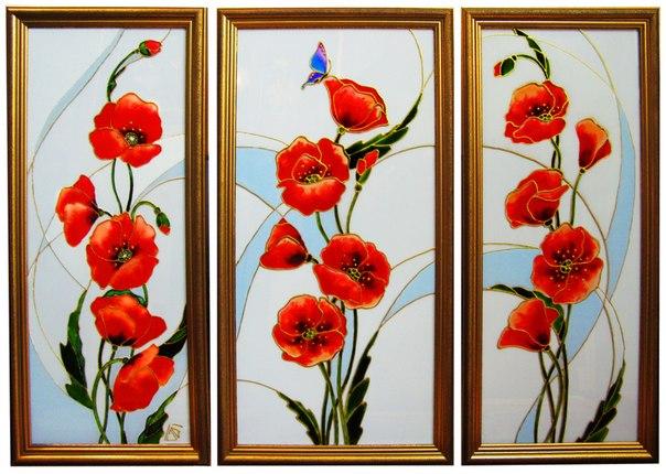 Рисунки по стеклу своими руками