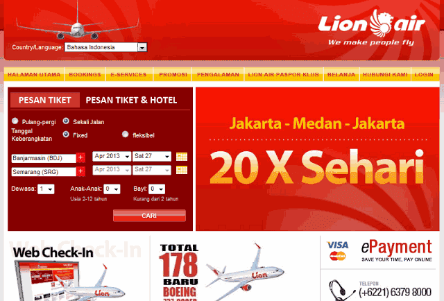 Tiket Lion Air Online