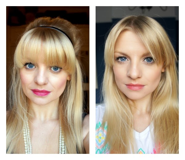 blonde hair full fringe fashion blogger