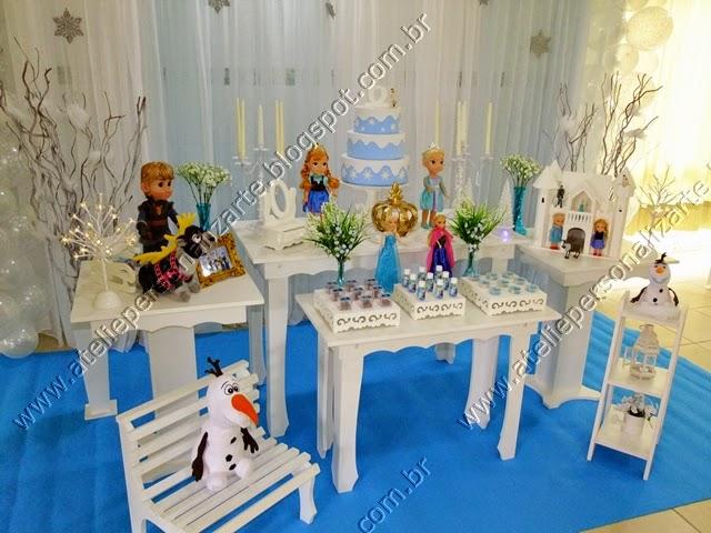 Decoração De Festa Infantil Frozen Provençal Ateliê Personalizarte