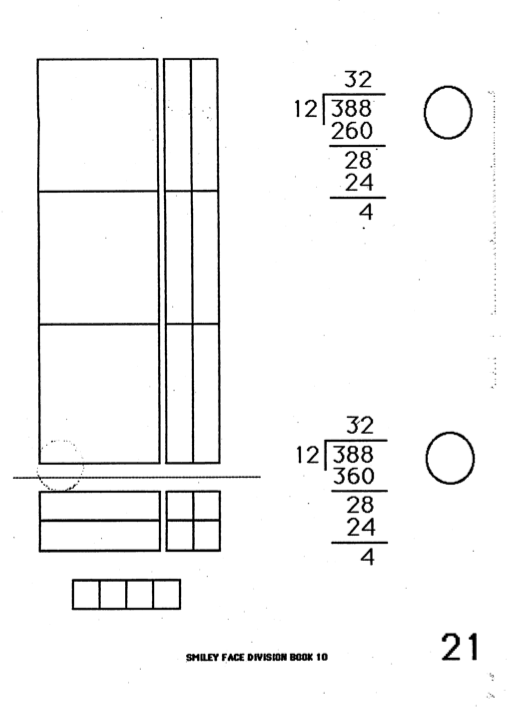 Division With Base Ten Blocks Worksheets Base Ten Math