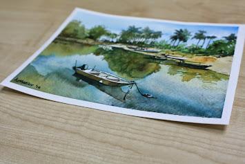 Watercolour: Pantai Marang I