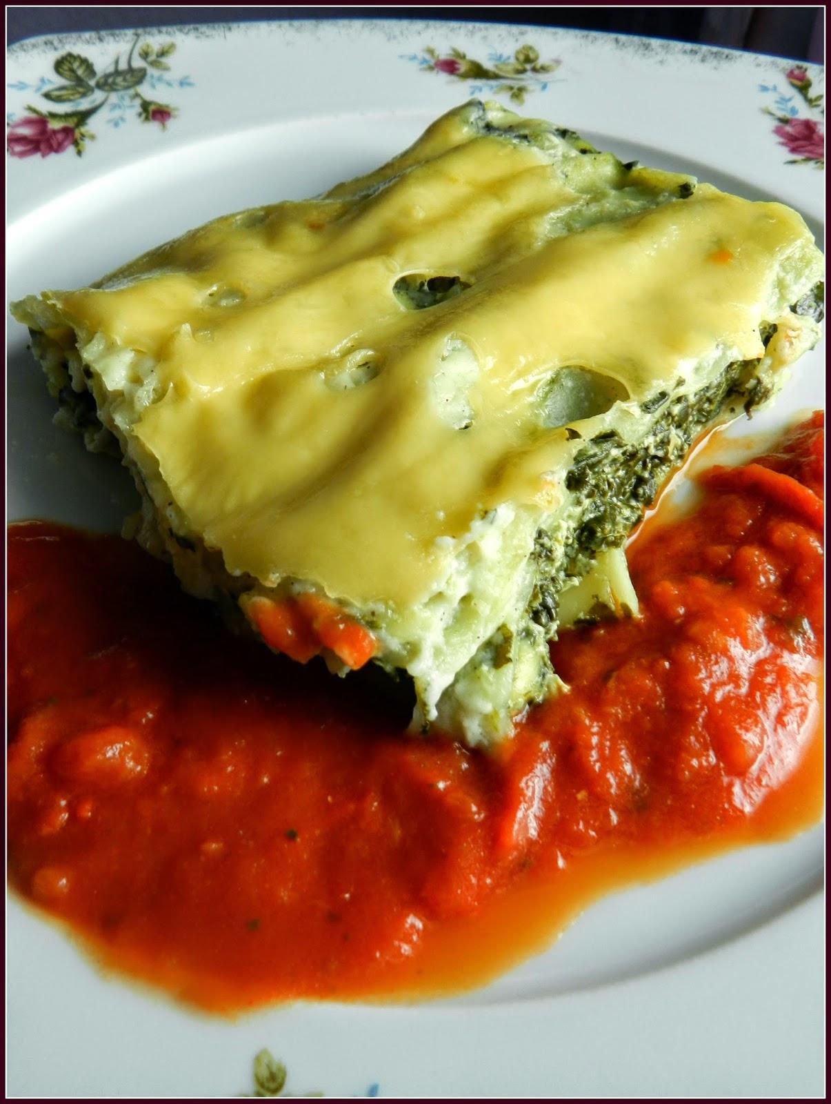 cannelloni z serem i szpinakiem