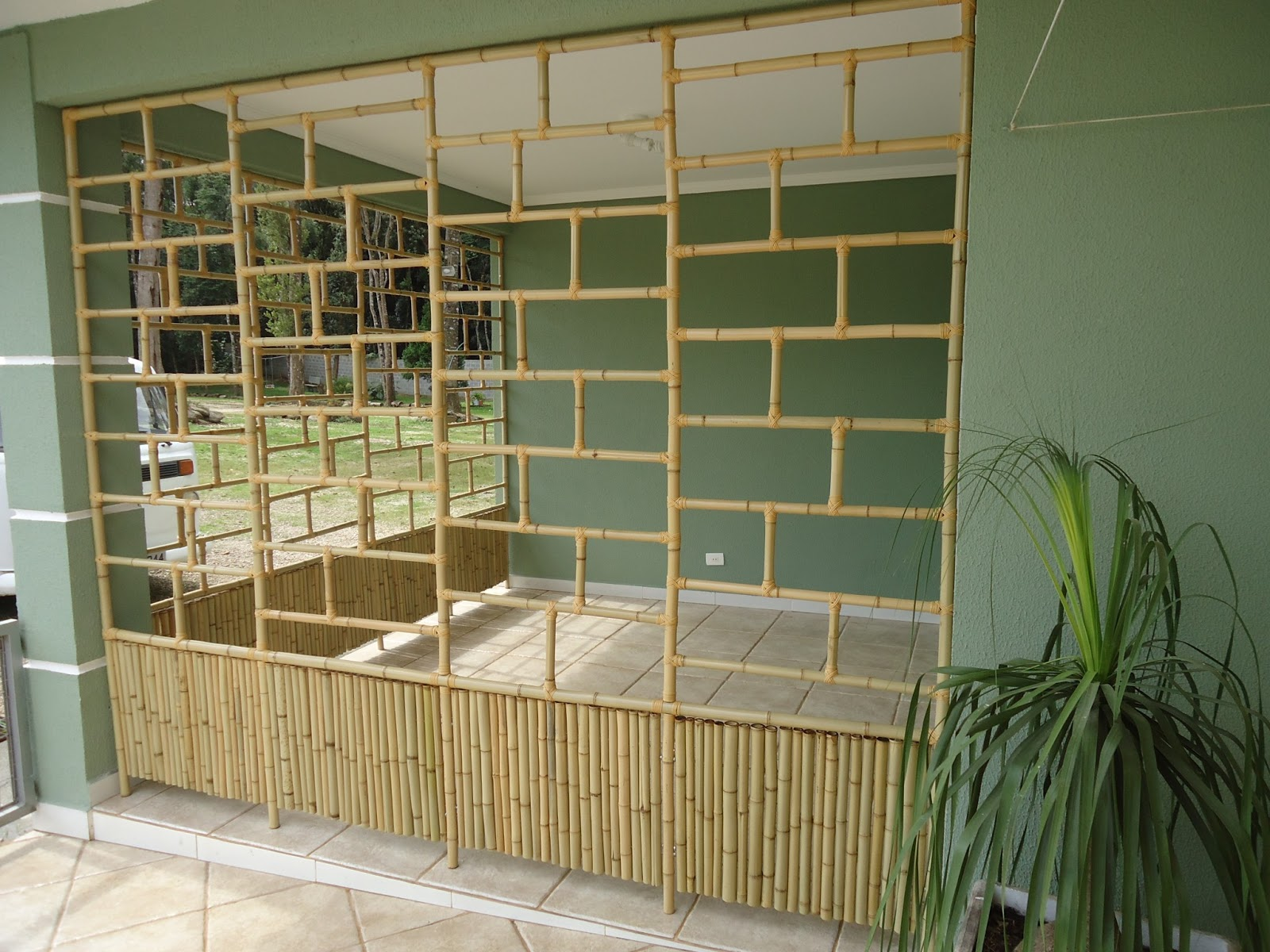 trelica bambu jardim : trelica bambu jardim:Vida Bambu – Curitiba – PR.: Estufa em Bambu