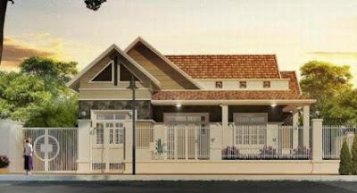 Tuyển chọn những mẫu nhà nông thôn 1 tầng kiểu dáng hiện đại