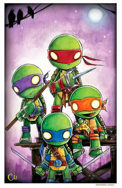 17-Ninja-Turtles-Chris-Uminga-Game-of-Thrones-Watercolours-www-designstack-co