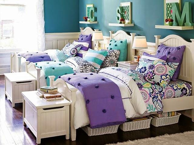 Dormitorios para tres hermanas adolescentes colores en casa - Habitacion juvenil chica ...