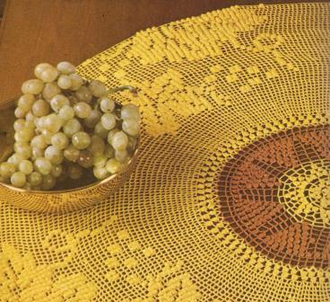 Tapete Amarillo y Marron a Crochet