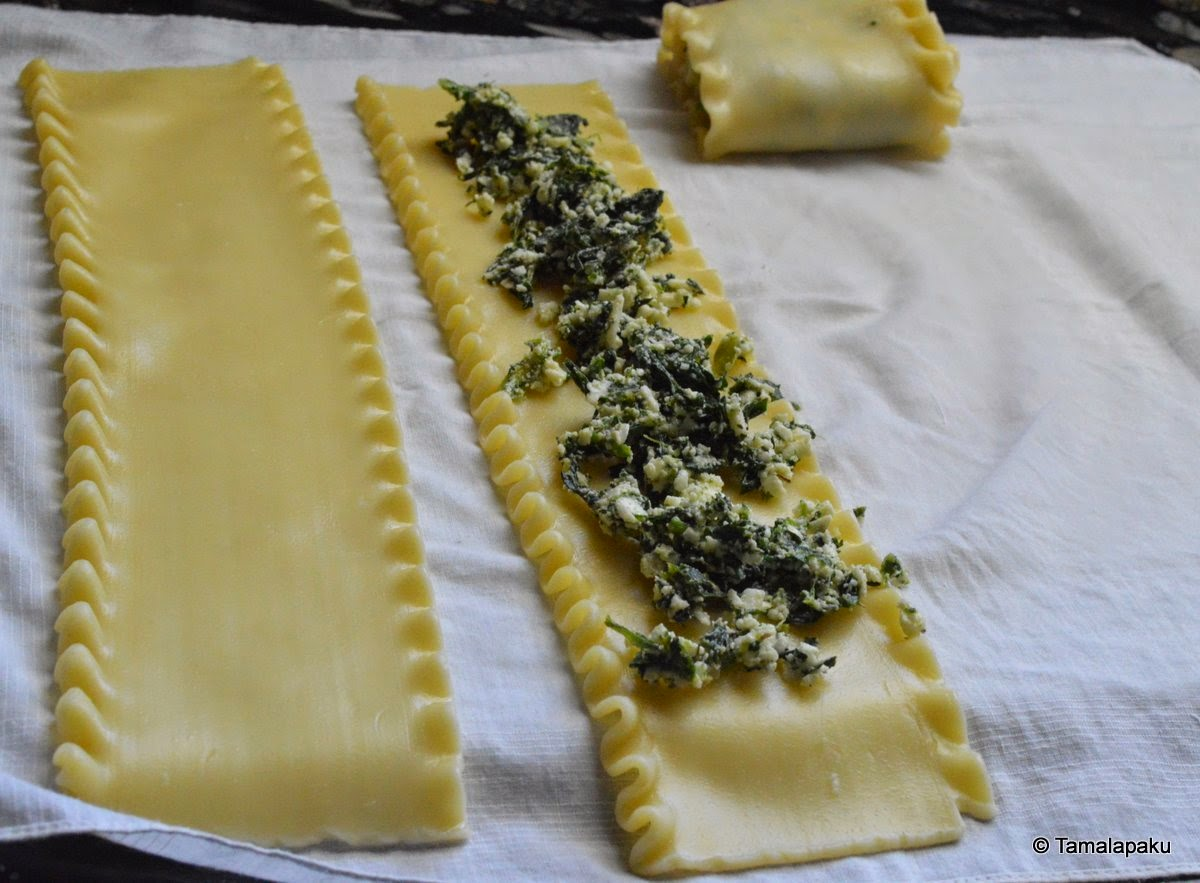Spinach Lasagna Rollups - Prep