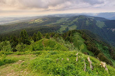 Landscape of Haut Jura Natural Park from Chalam mountain