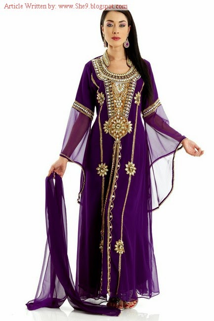 Fancy Embroidered Farasha for Arabian Girls