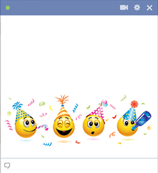 Facebook Party emoticons