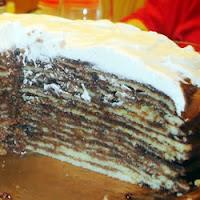 Gâteau au chocolat couche