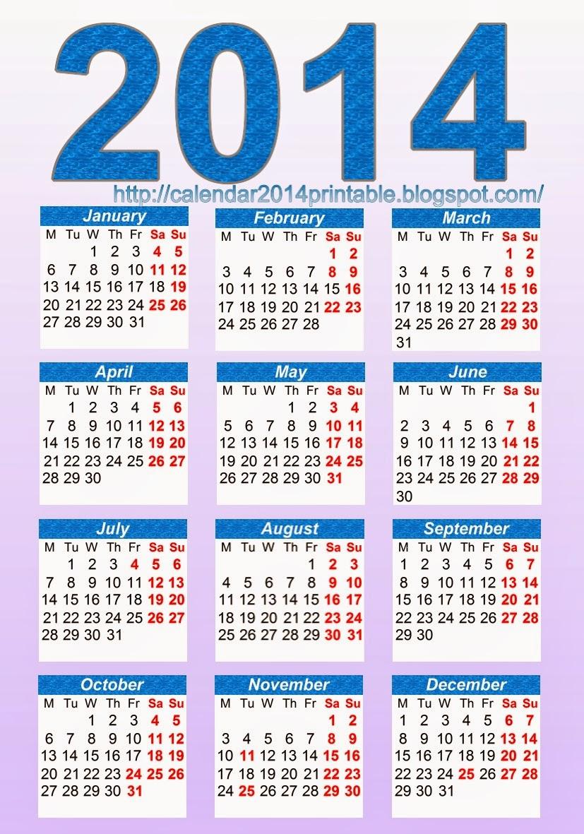 Pocket Calendar 2014 Template Free Printable Calendar 2014 Blank