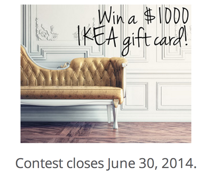 Win a $1000 IKEA Gift Card