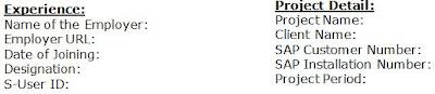 SAP Certification profile