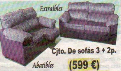 conjunto de sofas extraibles