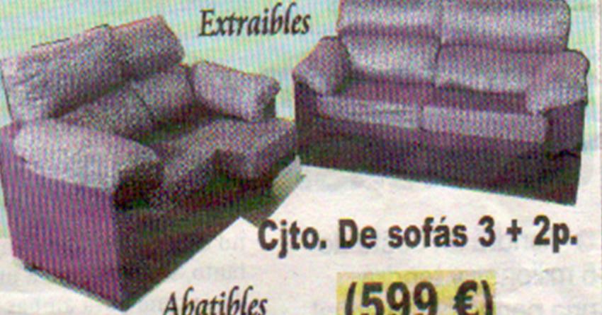 Uni n fabricantes de tresillos conjunto de sof s extraibles for Tresillos economicos