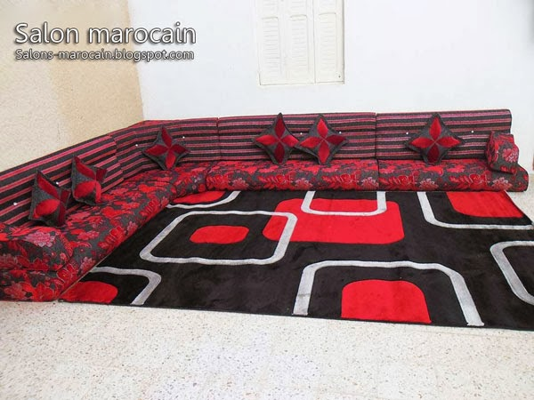 d coration salon marocain et tapis rouge 2014 d coration salon marocain moderne 2016. Black Bedroom Furniture Sets. Home Design Ideas