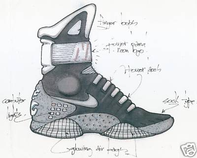 That seller had a photocopy of the original design drawing by Nike's  legendary shoe designer Tinker Hatfield (the designer of all of the Air  Jordans).