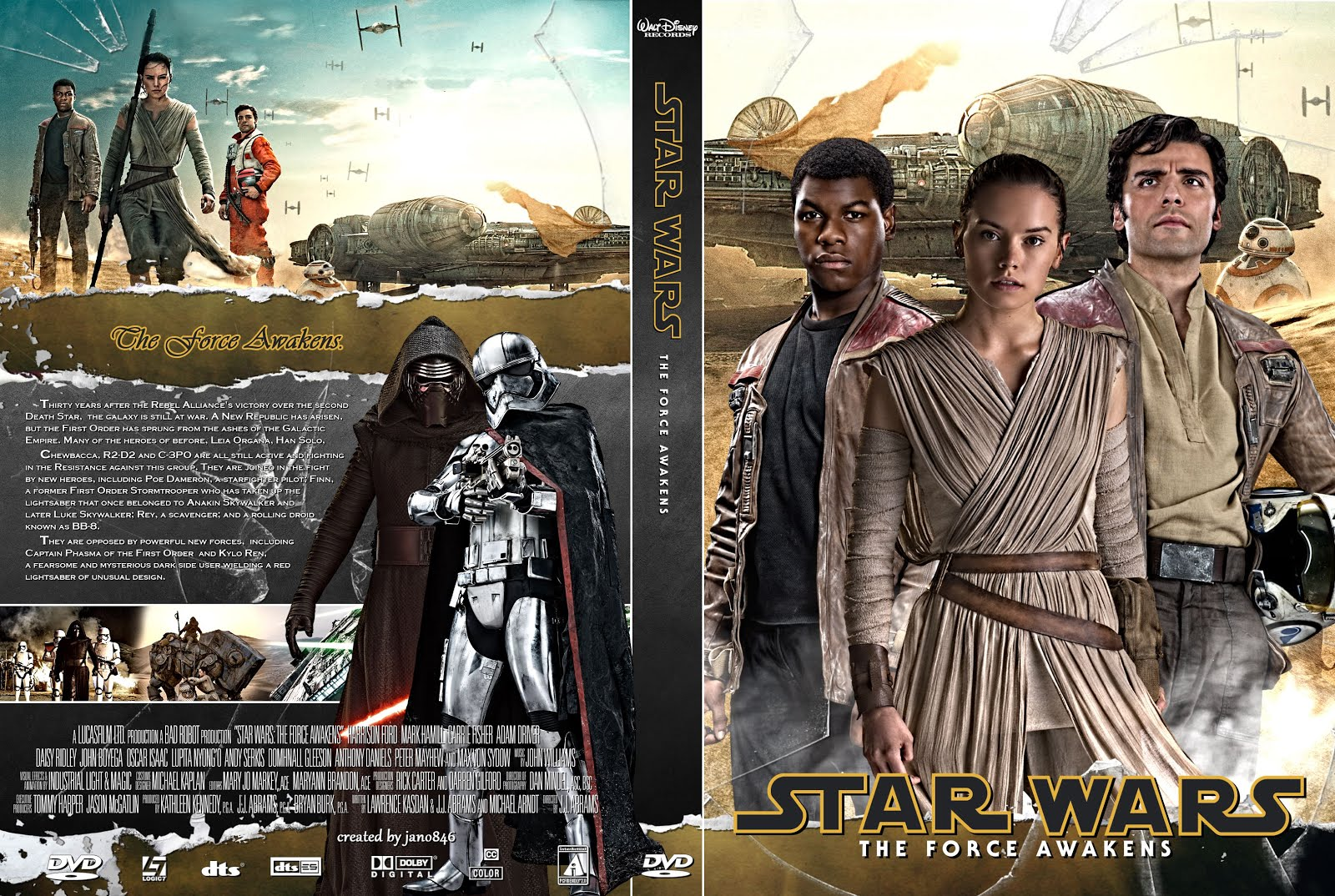 Star Wars O Despertar da Força DVD-R Autorado Star Wars The Force Awakens